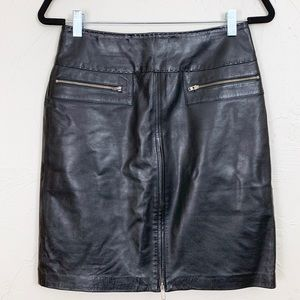 Vintage Black Leather Mini Skirt Size 2